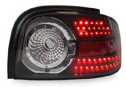 94-98 Mustang Taillights Gen 4 Style - LED BLACK (Pair)