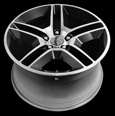 "V1161 - BLACK - 5 Lug 1994-2013 Mustang (sizes available 20"")"