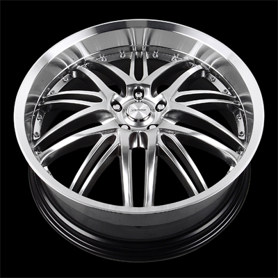 "V55 - KAOS - HYPER SILVER DARK MACHINED - 5 Lug 1994-2013 Mustang (sizes available 20"")"