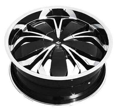 "VB3 - BLACK WIDOW - CHROME with BLACK - 5 Lug 1994-2013 Mustang (sizes available 20"")"