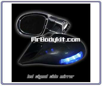 1994-1998 LED Turn Signal Power Mirrors - Carbon Fiber Finish