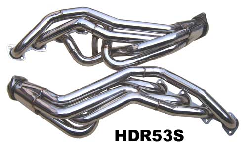 1996-2004 Mustang GT 4.6L (2V) Long Tube Headers - Stainless Steel - PYPES
