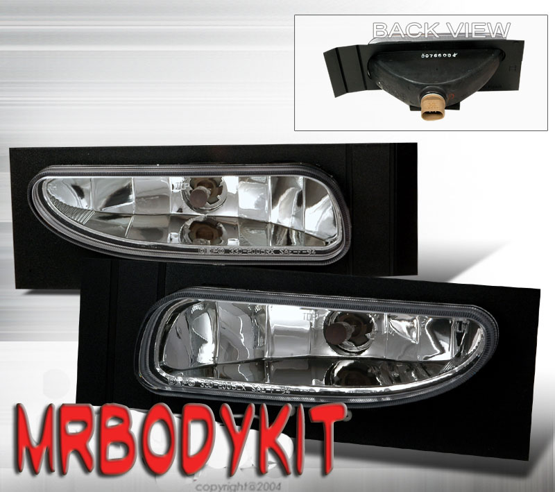 94-98 Mustang GT/V6 Ultra Fog Lights - Chrome Clear (Pair) (NO BRACKET)