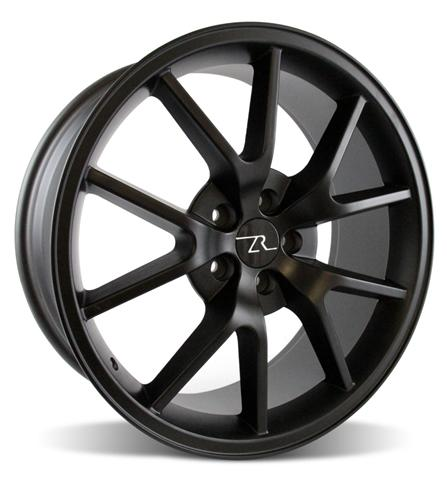 "20x8.5 & 20x10"" Mustang FR500 05-14 GT/V6/GT500 Big Brake, Set of 4 PACKAGE - MATTE BLACK"