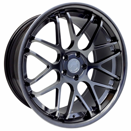 "Staggered 20"" Mustang ZR Downforce Concave 05-14 GT/V6/GT500 Big Brake, Set of 4 PACKAGE - Platinum"