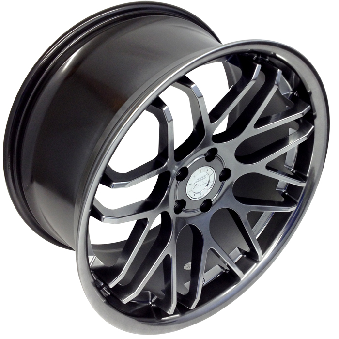 "Staggered 20"" Mustang ZR Downforce Concave 05-17 GT/V6/GT500 Big Brake, Set of 4 PACKAGE - Platinum"