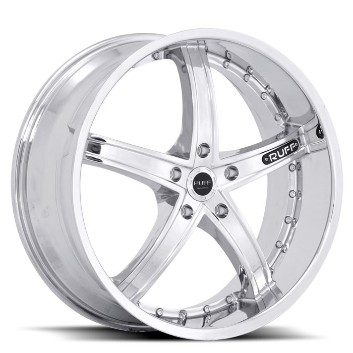 20 INCH Ruff Racing CHROME Rims R953 - 5 Lug 05-13 (sizes available 20x8.5, 20x10 & Staggered) - Package price for (4)
