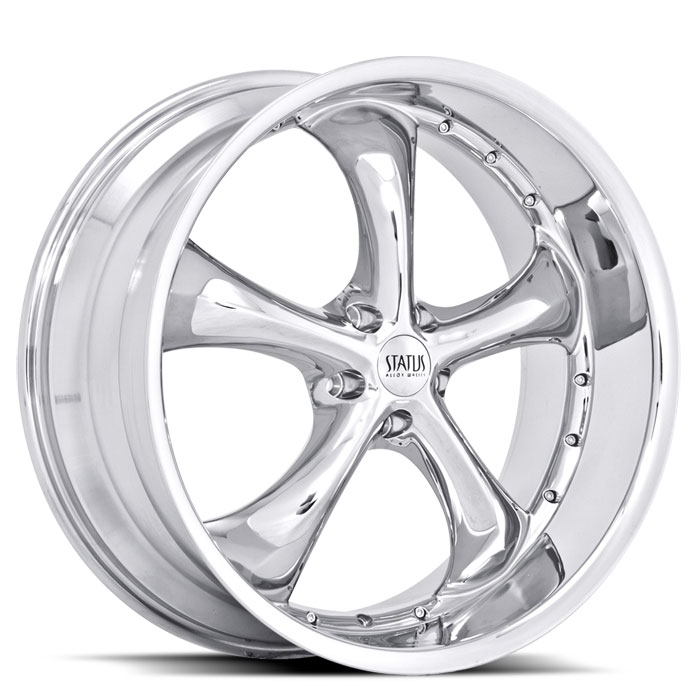20 INCH Status Retro CHROME Rims S818 - 5 Lug 94-04 (sizes available 20x8.5, 20x10 & Staggered) - Package price for (4)