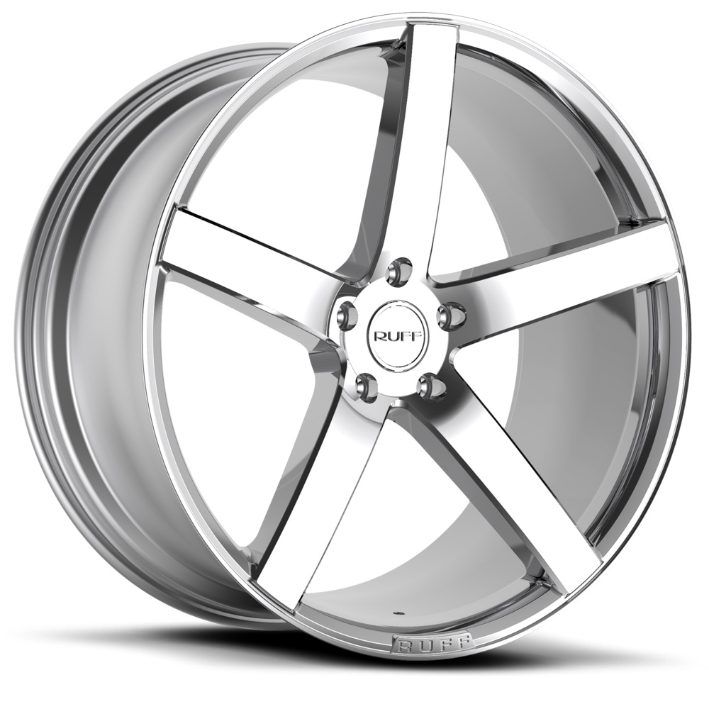 20 INCH Ruff Racing R1 CHROME - 5 Lug 94-04 (sizes available 20x8.5, 20x10 & Staggered) - Package price for (4)