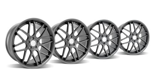 "Staggered 20"" Mustang ZR Downforce Concave 05-14 GT/V6/GT500 Big Brake, Set of 4 PACKAGE - Graphite"