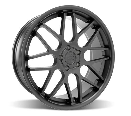"Staggered 20"" Mustang ZR Downforce Concave 05-14 GT/V6/GT500 Big Brake, Set of 4 PACKAGE - Matte Black"