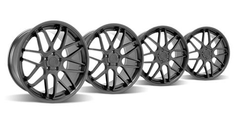"Staggered 20"" Mustang ZR Downforce Concave 05-17 GT/V6/GT500 Big Brake, Set of 4 PACKAGE - Matte Black"