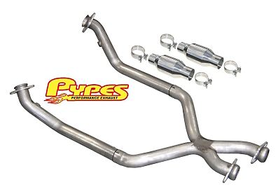 "1996-1998 Mustang GT 2.5"" X-Pipe w/ Cats (for Short Tube Headers) - By PYPES"