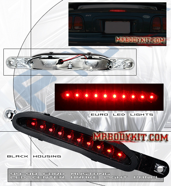 94-98 Mustang 3rd Brake Light - Black