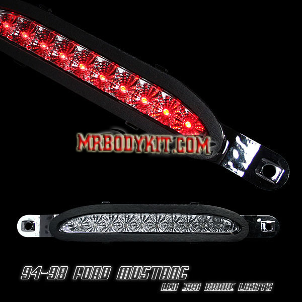 94-98 Mustang 3rd Brake Light - Chrome