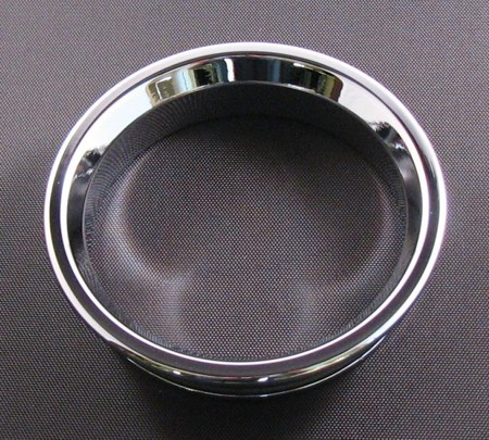 01-04 Mustang Billet Cup Holder Bezel - Chrome
