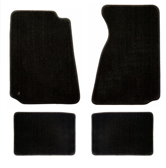 1994-2004 Mustang 94-04 Coupe / 99-04 Convertible Floor Mats - Black - No Emblem