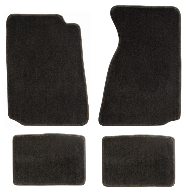 1994-2004 Mustang 94-04 Coupe / 99-04 Convertible Floor Mats - Grey - No Emblem
