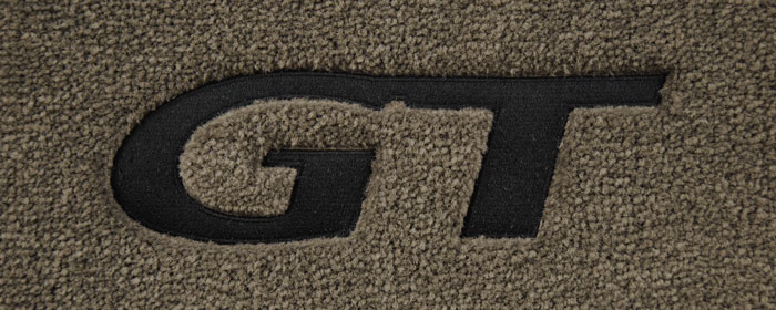 1994-2004 Mustang 94-04 Coupe / 99-04 Convertible Floor Mats - Parchment (5 Emblem Options)
