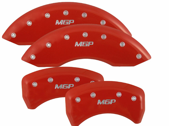 1994-2004 Mustang GT/V6 Caliper Cover (Set of 4) - RED - MGP Logo
