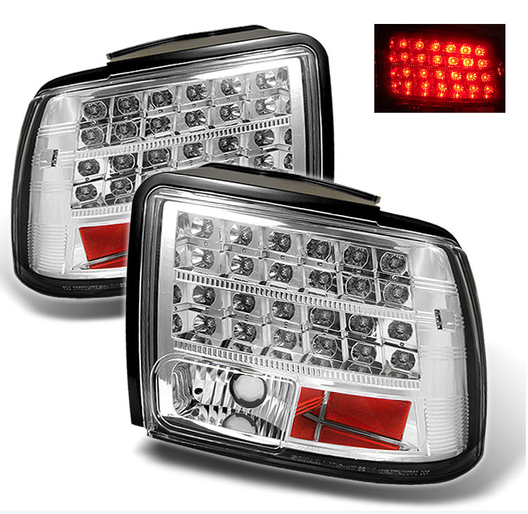 99-04 Mustang Taillights GEN 11 - LED - CHROME (Pair)