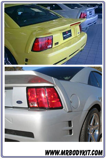 1999-2004 Mustang Saleen S281 3-Piece Wing w/3rd Brake light included - URETHANE
