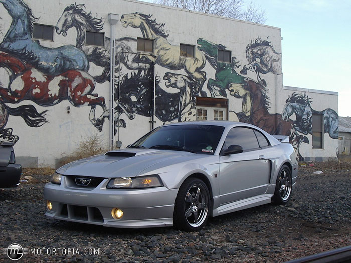 99-04 Mustang ROUSH STAGE 3 - Body kit & Exhuast (Front W/Fogs & Grilles + Rear + Sides + Exhuast and Wing) - Urethane