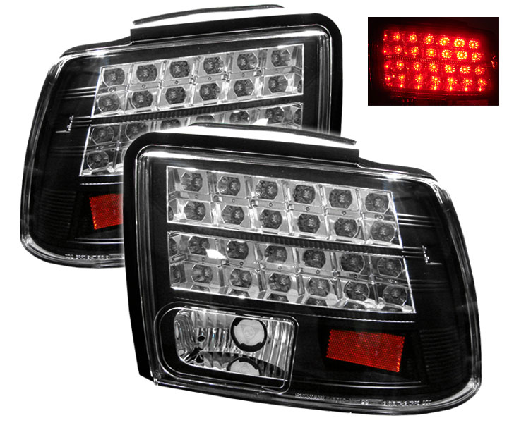 99-04 Mustang Taillights GEN 11 - LED - BLACK (Pair)