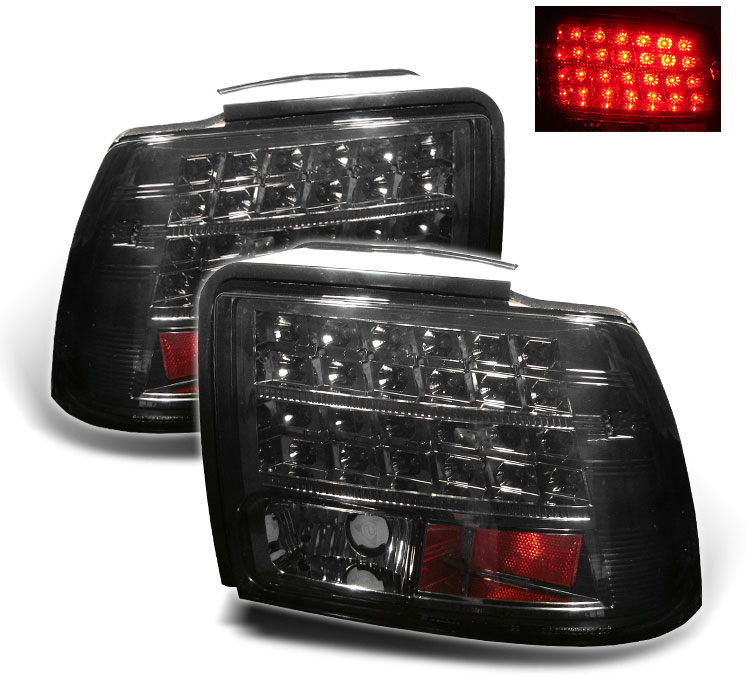 99-04 Mustang Taillights GEN 11 - LED - SMOKED (Pair)