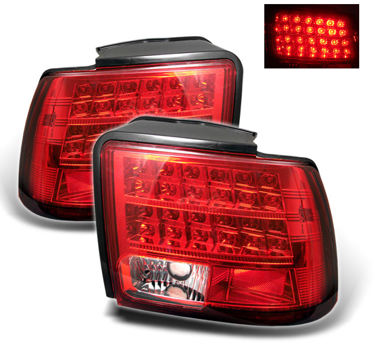 99-04 Mustang Taillights GEN 11 - LED - RED (Pair)