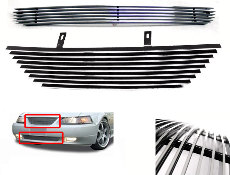 99-04 Mustang Upper & Lower Billet Grille COMBO
