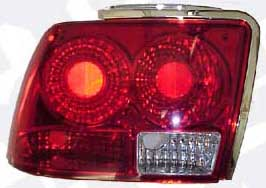 99-04 Mustang Taillights GEN 2 - RED RED (Pair)