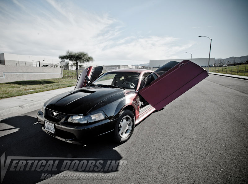 1999-2004 Mustang VERTICAL DOOR ZLR system (Direct Bolt on) Doors open out