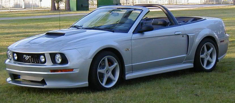 99-04 Mustang ROADSTER 2005 CONVERSION - 6PC - Body kit (Front + Rear + Sides + Rear Deck Lid Panel + HL) - Urethane