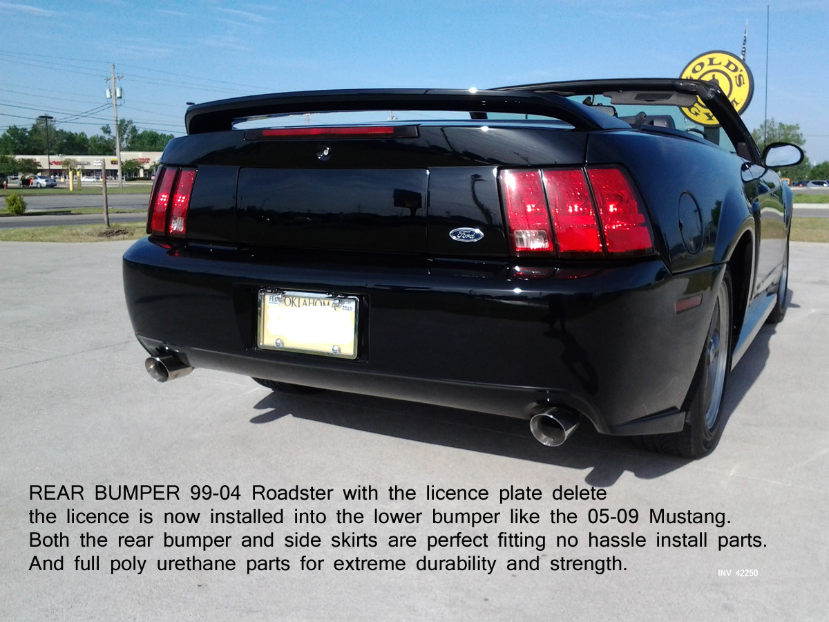 99-04 Mustang ROADSTER 2005 CONVERSION - Rear Deck Lid Panel Delete (Fiberglass)