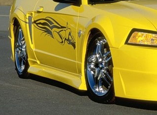99-04 Mustang RAZZI ADD ON - Side Skirts - Passenger / Driver Side - (ABS AERO-FLEX)