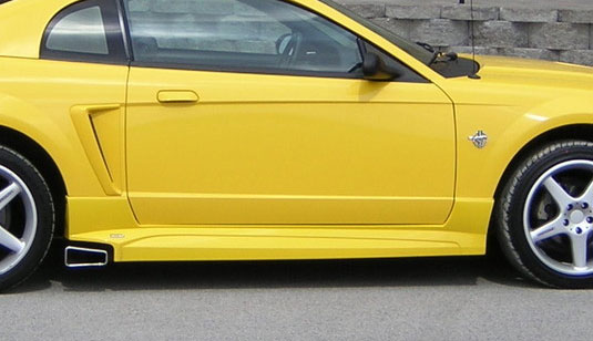 99-04 Mustang ROUSH - Side Skirts - For Side Exhaust - (Urethane)