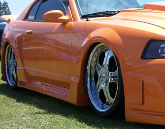 99-04 Mustang SPIDER X9 COBRA - Side Skirts - Passenger / Driver Side - (Urethane)