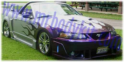 99-04 Mustang SPIDER X9 COBRA - Side Skirts - Passenger / Driver Side - (Fiberglass)