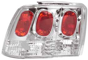 99-04 Mustang Taillights GEN 1 - CHROME (Pair)