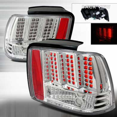 99-04 Mustang Taillights GEN 10 - CHROME (Pair)
