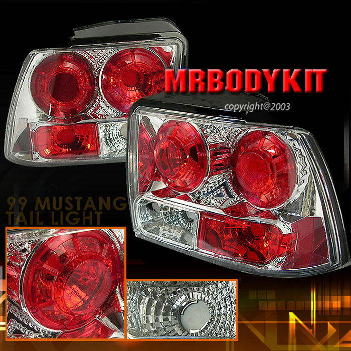 99-04 Mustang Taillights GEN 2 - CHROME (Pair)
