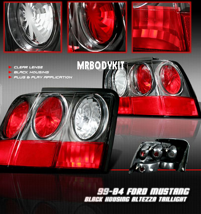 99-04 Mustang Taillights GEN 5 - BLACK (Pair)
