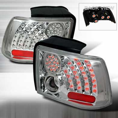99-04 Mustang Taillights GEN 9 - CHROME (Pair)