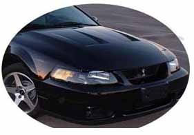 99-04 Mustang Heat Extractor Hood (03-04 COBRA STYLE) GT/V6 Fit only (Fiberglass) by Vis