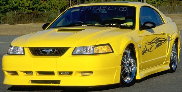 99-04 Mustang RAZZI ADD ON - 4PC - Body kit (Front + Rear + Sides) - ABS AERO-FLEX (Paint Options)
