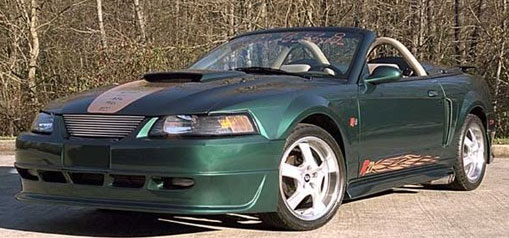 99-04 Mustang RAZZI SIDE EXHUAST R-21 ADD ON - Front Bumper - (ABS AERO-FLEX)