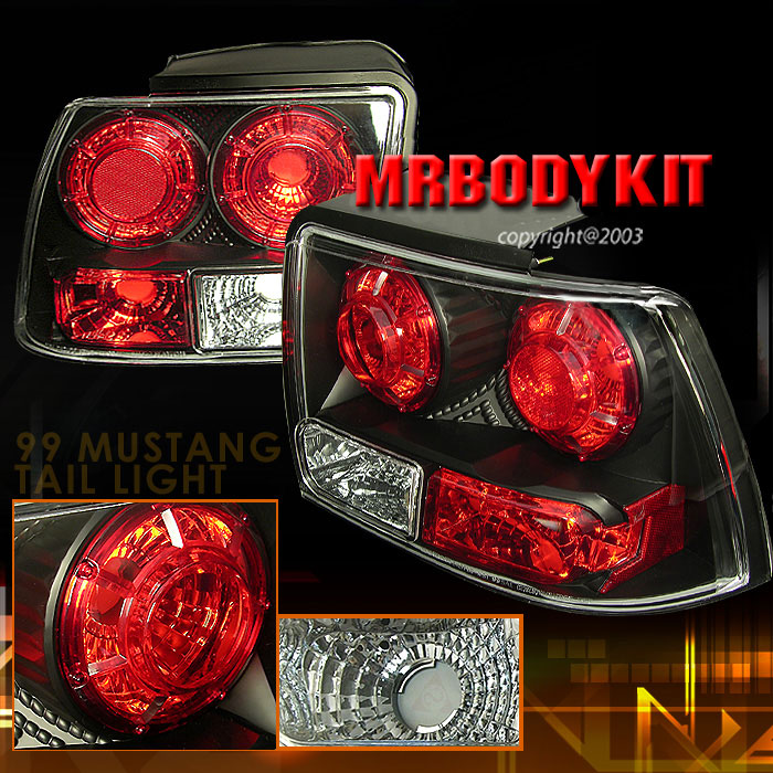 99-04 Mustang Taillights GEN 2 - BLACK (Pair)