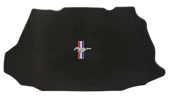 1999-2004 Mustang Coupe TRUNK Mats - Black (3 Emblem Options)