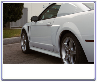 99-04 Mustang Xenon Front Fender Scoops